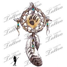 Dream catcher and bear paw. Gorgeous