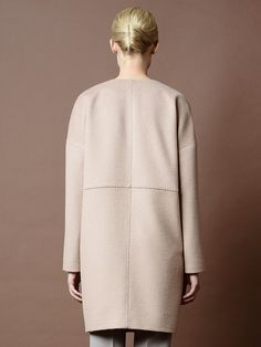 Пальто женское демисезонное цвет светлый кэмел, Пальтовая ткань, артикул 1014900p00007