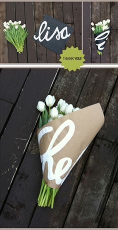 what a sweet way to give flowers :) by vonda