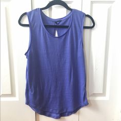 Purple Top STILE BENETTON. Purple tank top. Slit back. Zara Tops Tank Tops