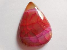 Beautiful Pink and Red Cracked Agate Druzy by Gemstonebeadsfinding
