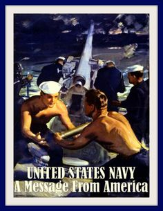 US Navy Recruiting Print 1940s, WWII 8 x 10  Prints from old-time Posters. This…