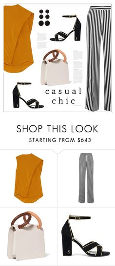 """Без названия #8184"" by bliznec ❤ liked on Polyvore featuring Victoria, Victoria Beckham, Roksanda, Yves Saint Laurent and Cara"