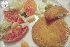 Delizie & Confidenze: Medaglioni di baccalà con insalata di arance e finocchi all'olio di zucca http://www.delizieeconfidenze.com/2017/02/medaglioni-di-baccala-con-insalata-di.html