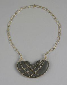 Necklace | Irena Brynner.  Gold, moonstone, diamonds.   ca. 1963