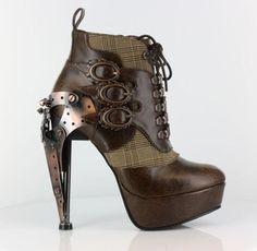 Oxford Steampunk Victorian High Heels
