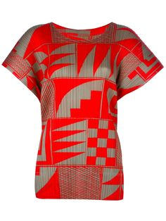 PLEATS PLEASE By Issey Miyake Patterned Blouse