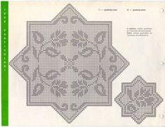 Crochet Dollies, Crochet Art, Crochet Home, Crochet Granny, Filet Crochet, Crochet Stitches Patterns, Embroidery Stitches, Stitch Patterns, Crochet Tablecloth