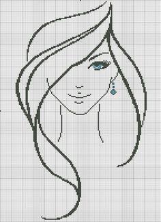 Borduren - Algemeen *Cross Stitch ~Patroon Vrouw~: