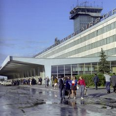 Domodedovo International Airport - Moscow, Russia - Original Main Terminal (1964) - Seen here in June, 1974.