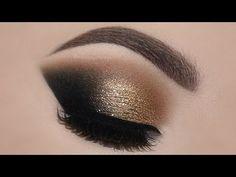♡ Gold Glam Cat Smokey Eyes & Perfect Skin Makeup Tutorial   Melissa Samways ♡ - YouTube