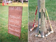 handmade wedding signage