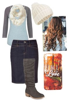 """""""Fall In Love With Fall"""" by carlismodestchristianfashion on Polyvore featuring maurices, Closed, Journee Collection, Old Navy, Accessorize, cute, Modest and fall2015"""