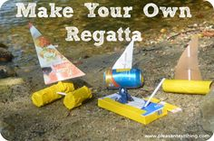 Make your own boat from recycled materials