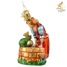 "Frog King - Exclusive tree ornaments made of glass from the ""Fairytales"" series Once upon a time. Let the popular fairytale motifs carry you away into a colourful, magical world. Available exclusive Christmas World, Christmas 2019, Xmas, Glass Christmas Ornaments, Christmas Decorations, Holiday Decor, Amazing Store, How To Make Ornaments, Fairy Tales"