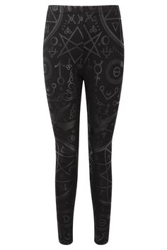 CULT. Sensory Overload. - Fitted Leggings.-Soft Touch Jersey Fabric; for perfectcomfort.- Repeat Print.-Elastic Waist. Black on black - serious must have! Ba