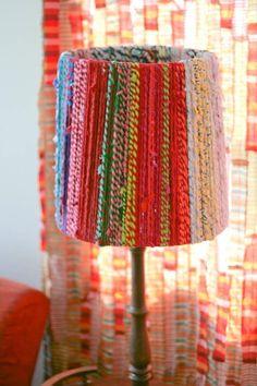 DIY Rope Lampshade @Tina Perman I am trying this today, I think.