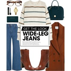 Flare Up: Wide-Leg Jeans by glamorous09 on Polyvore featuring Étoile Isabel Marant, Solace, Dooney & Bourke, Oasis, Lancôme, Bomedo, Linda Farrow, denimtrend and widelegjeans