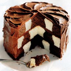 Checkerboard Cake - Good Housekeeping