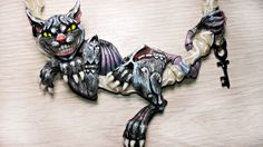 """Polymer Clay Alice Madness Returns """" Cheshire Cat """" Necklace"""