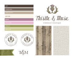 Thistle & Muse Photography Brand Board
