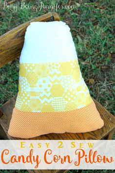 Easy to Sew Candy Corn Pillow Tutorial - BusyBeingJennifer.com