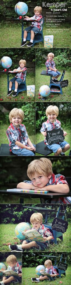 Back to school photo shoot. Preschool photo session