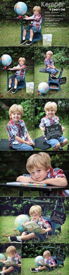 Back to school photo shoot. Preschool photo session