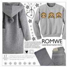 """""""Romwe 2."""" by selmagorath ❤ liked on Polyvore featuring Comptoir Des Cotonniers, Jewel Exclusive, Lauren Ralph Lauren, romwe and grey"""