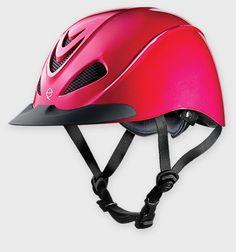Troxel's new low profile schooling helmet: The Liberty, in Fuschia! Only $54.95!