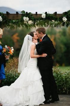 New Hampshire Rustic Ski Lodge Wedding: Alaina   Tom