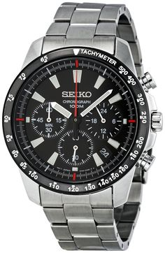 Amazon.com: Seiko SSB031 Men's Chronograph Stainless Steel Case Watch: Seiko: Watches
