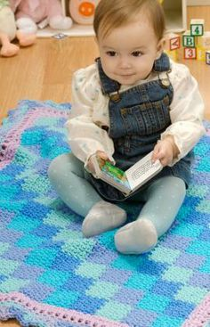 Baby Blanket Blues. Free Pattern.