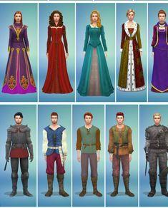 Many Medieval Outfits [#ts4_adult_fullbody] [#ts4_bacc_human] [#ts4_bacc_elf]