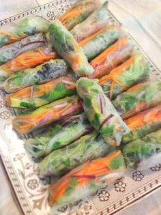 Vietnamese spring rolls...these look like a lot of work...but SO good!