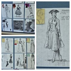 Costume renderings by Matthew J. LeFebvre