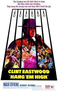 A great poster from Clint Eastwood's 1968 Western movie Hang 'Em High! The cast includes Ed Begley, Bruce Dern, and Dennis Hopper! Ships fast. 11x17 inches.