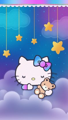 Cute Cat Wallpaper, Matching Wallpaper, Sanrio Wallpaper, Hello Kitty Wallpaper, Iphone Wallpaper, Sanrio Hello Kitty, Melody Hello Kitty, Hello Kitty Imagenes, Hello Kitty Pictures
