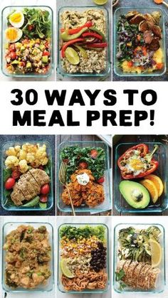 Meal Prep your way in to 2017 with 30 different ways to meal prep with recipes from Fit Foodie Finds. Get organized at the beginning of a busy week by meal prepping healthy and delicious breakfasts, lunches, dinners, snacks, and desserts! by goldie