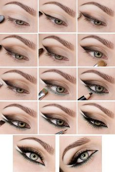 Style lessons: 15 best ideas for eye makeup with instructions-Stilunterricht: 15 beste Ideen für Augen Make-up mit Anweisungen Style lessons: 15 best ideas for eye makeup with … - Dramatic Eye Makeup, Smoky Eye Makeup, Makeup Eye Looks, Eye Makeup Steps, Colorful Eye Makeup, Blue Eye Makeup, Makeup For Brown Eyes, Eyeshadow Makeup, Makeup Tips