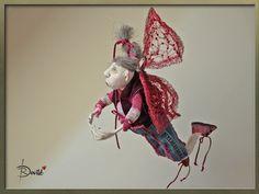 Art dolls, handmade OOAK dolls ,paperclay dolls Home spirit