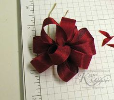 Stamping 411: How To ~ Tie A Bow