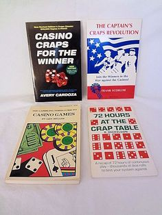 4 Winning Casino Craps Gambling Books Systems Strategy. $19.95