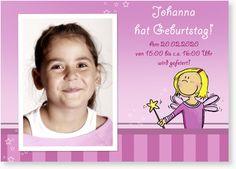 Einladungskarte zum Kindergeburtstag - Kleine Fee