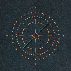 """""""The Lake and Stars"""" by Leslie Olson Compass Logo, Compass Design, Logos, Logo Branding, Hand Tattoos, Lettering, Typography, Packaging Design, Branding Design"""