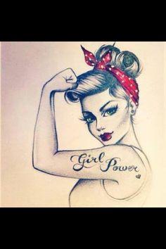 GIRL POWER - cute tattoo idea :)