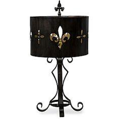 Cast Iron Fleur-de-Lis Cutout Table Lamp. #FleurDeLis #lamp #decor