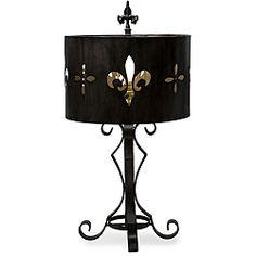 Wrought iron table lamps walmart best inspiration for table lamp 39 about lamps on pinterest fabric shades floor lamps and wrought iron cutwork table imax fleur lis aloadofball Gallery