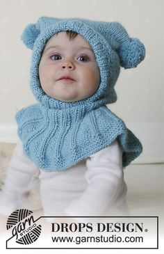 Funny jester / DROPS baby - free knitting patterns by DROPS design Free knitting instructions Knitting , lace processing is essentially the most beautiful hobbies that women can not give . How To Start Knitting, Knitting For Kids, Free Knitting, Baby Knitting Patterns, Baby Patterns, Crochet Pullover Pattern, Beanie Pattern, Diy Crafts Knitting, Knitting Blogs