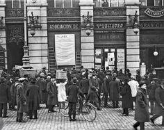 Lista de la lotería de Navidad. Puerta del Sol. 1905.